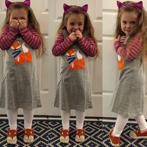 🦊 Wise fall fox appliqué dress NWT ADORABLE!